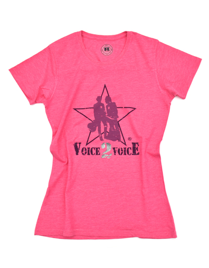 VOICE 2 VOICE T-SHIRT PINK BERRY